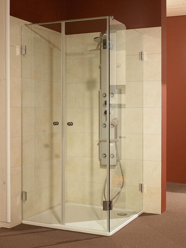 Duschabtrennung schützt